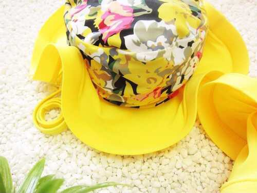 One Piece Swimsuit Floral Swimming Suit For Girls Bathing Suit Swimwear With Cap