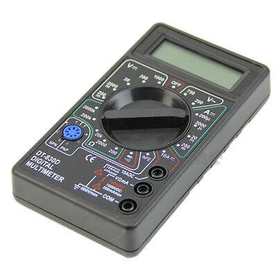 Digital Multimeter Ohm Voltmeter Ammeter AVO Meter DT830D Test Leads LCD New