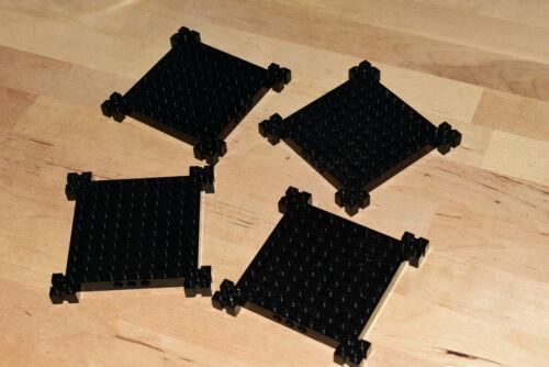 Lego Grandes Platos Negro # 12x12 # Paquete de 4 # plana Placa base # Castillo espacio