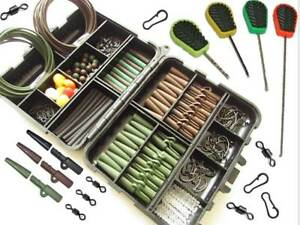 Carp-Fishing-Tackle-Terminal-End-Tackle-Box-Weighs-Lead-Clips-Baiting-Needles