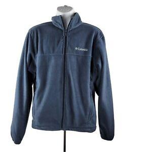 Columbia-Fleece-Full-Zip-Jacket-M-Navy-Blue-Pockets