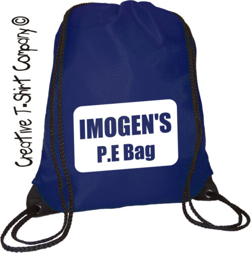 DRAWSTRING JUST ADD YOUR NAMEOR MESSAGE CERISE PINK PERSONALISED SCHOOL BAG