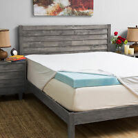 Grande Hotel Collection 4-inch Gel Memory Foam Mattress Topper With 300 Thread C