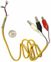 1 Cox Slot Car Controller 18 Gauge Replacement Alligator Cable Lead Wire +spring