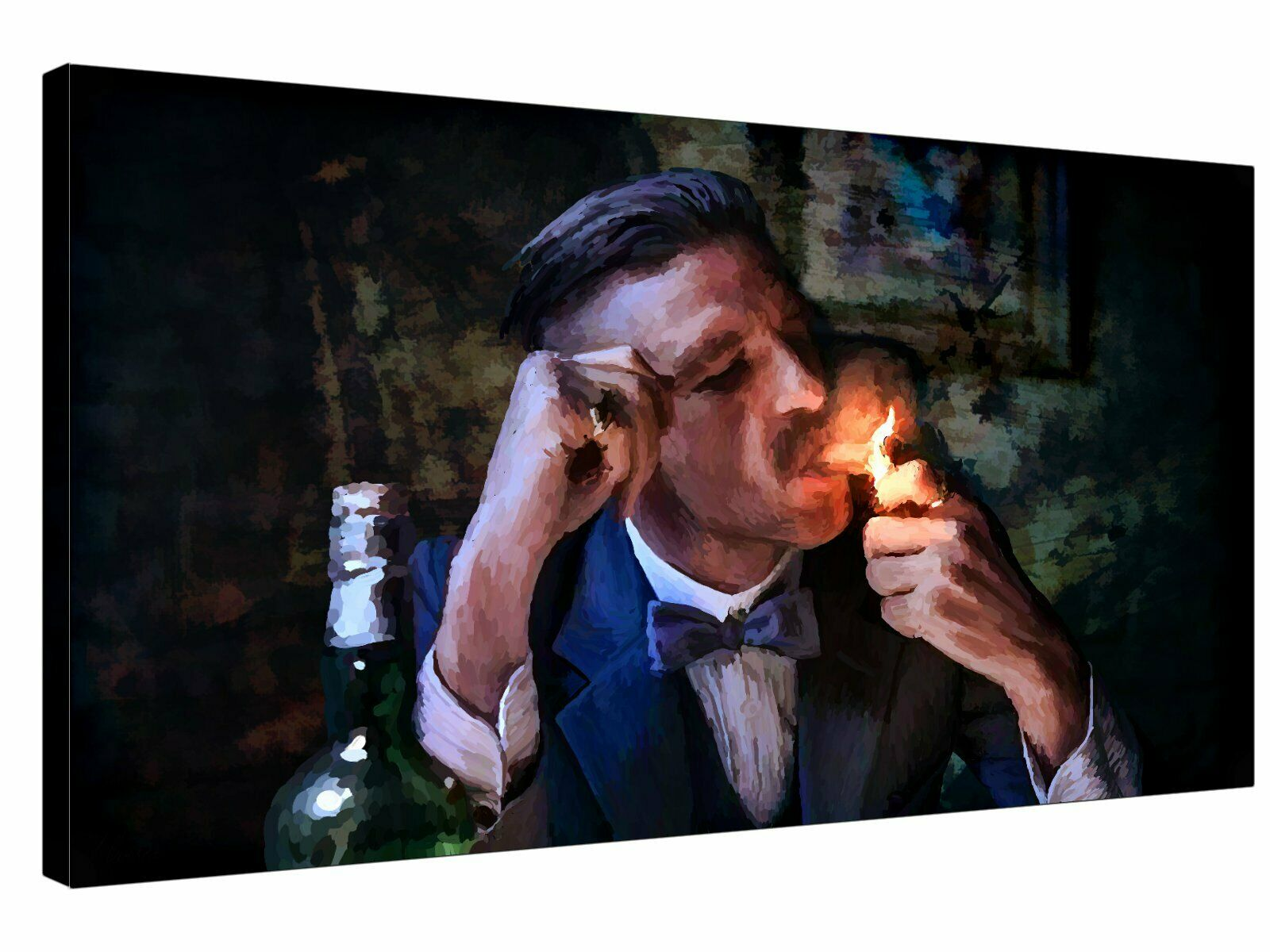 Quality canvas wall art ready to hang PEAKY BLINDERS Arthur Shelby Cigar