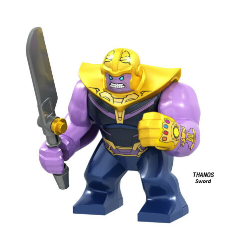 Marvel Avengers Big Minifigures Hulkbuster Hulk Thanos Venom Iron Man Spiderman
