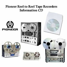 PIONEER REEL TO REEL TAPE RECORDER MANUALS on CD - Various Models