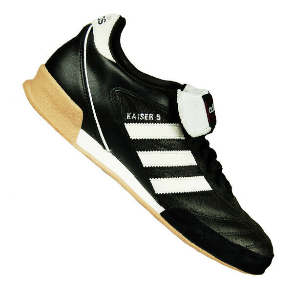7ba1f2363d3 adidas Mens Football Soccer Kaiser 5 Goal BOOTS Leather Synthetics Black  White 47 1 3 for sale online