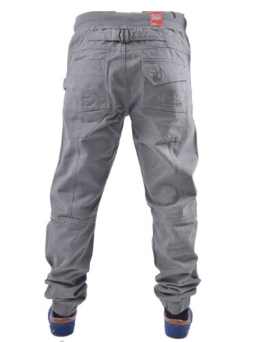 BOYS KIDS ENZO EZB188 GREY CUFFED JOGGER PANTS ALL SIZES 24 TO 29