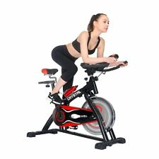 Home Use Exercise Spin Cycle Spinning Bike Fitness Equipment Black&Red Color New