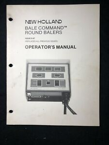 New Holland Bale Command Round Balers 1987 Operator's Manual *638