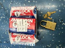 Nib American Lock Brass 10 Lock Padlock Keyed Alike Set Military Use Asl40nkab