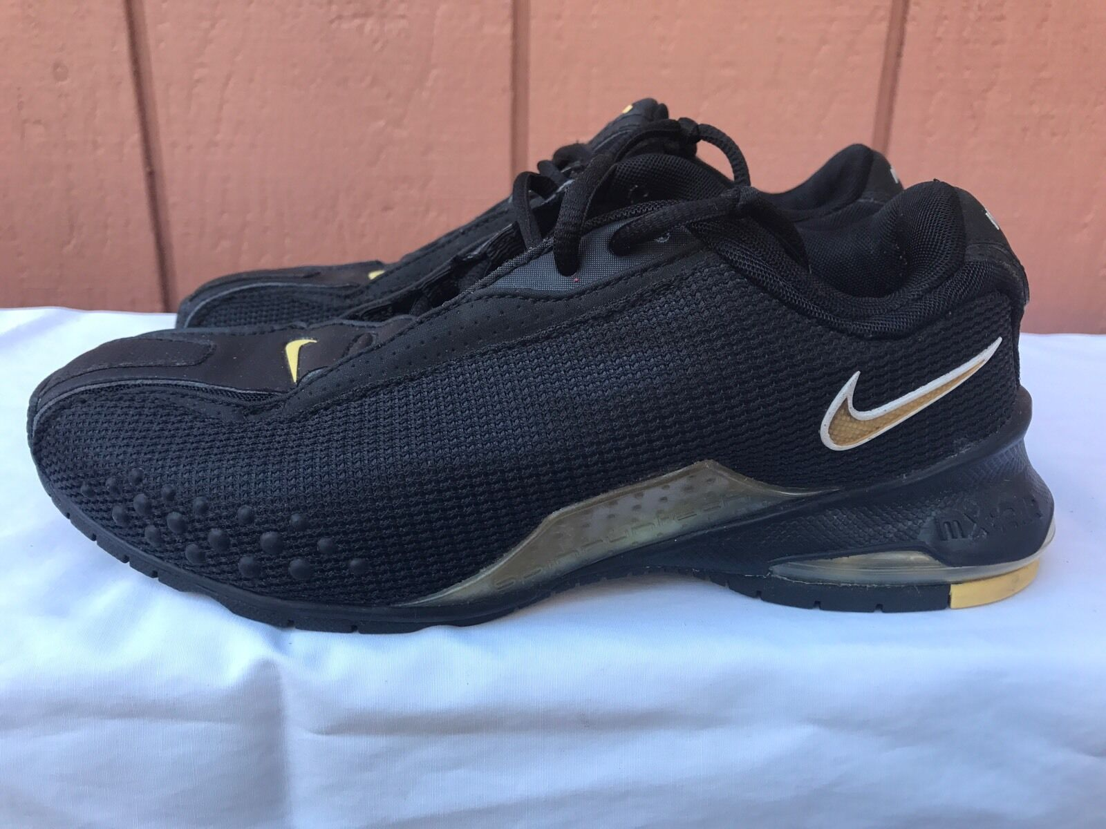 RARE NIKE MX AIR 2003 SPIN RUN TECH US 6 BLACK TRAINERS SNEAKERS SHOES