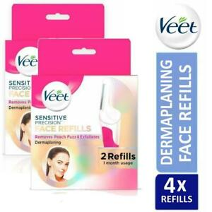 2 x Veet Sensitive Precision Dermaplaning for Face Refills (2 Pack)