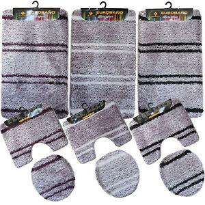 bad garnitur bad teppich badezimmer set badematte vorleger 3 tlg neu b171 ebay. Black Bedroom Furniture Sets. Home Design Ideas