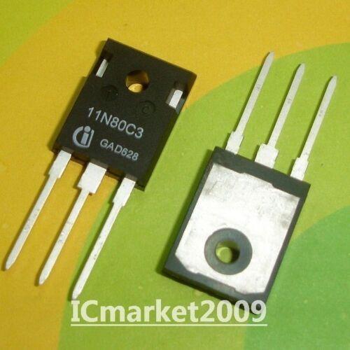 5 PCS SPW11N80C3 TO-247 11N80C3 Power Transistor NEW