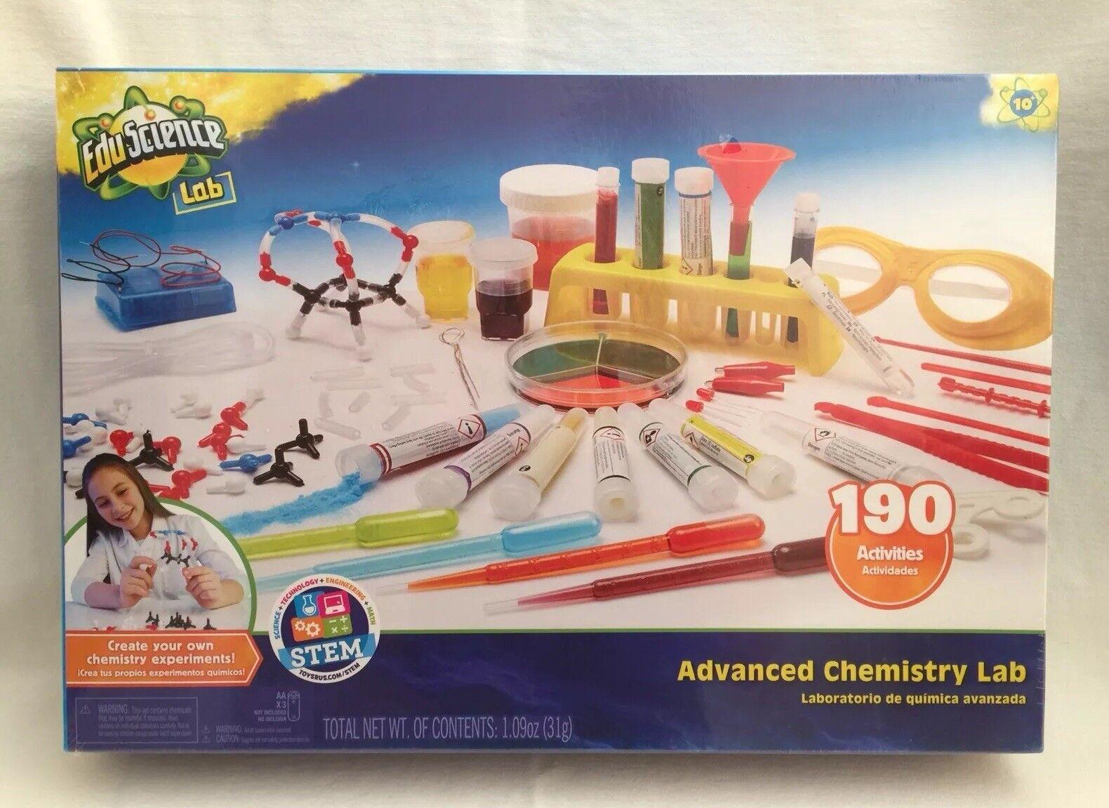 Laboratorio de química avanzada eduscience nuevo 190 actividades