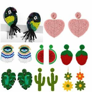 Charm-Women-Plant-Bohemian-Handmade-Woven-Bead-Drop-Dangle-Earings-Jewelry-Gift