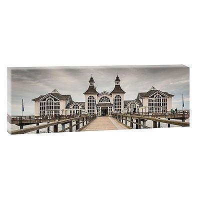 Rügen Pier  Bild Leinwand Poster Modern Design Panorama  150 cm* 50 cm 636