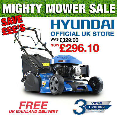 "Roller Lawnmower 18"" 46cm Cut Petrol Self Propelled Lawn Mower Hyundai HYM460SPR"