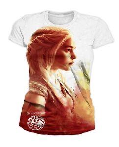 Game of Thrones - Daenerys Targaryen Heatwave Damen T-Shirt (Weiss) (S-XL)