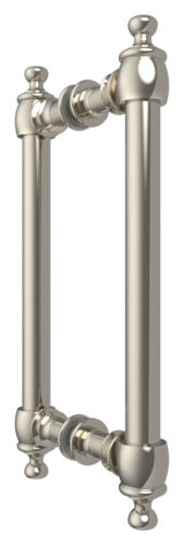 """CRL C0L8X8PN Polished Nickel 8/"""" Colonial Style Back-to-Back Pull Handles"""