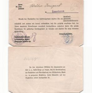 b92918-Ermershausen-Luftschutzgesetz-Gestellungsbefehl-zum-Hauswartstel