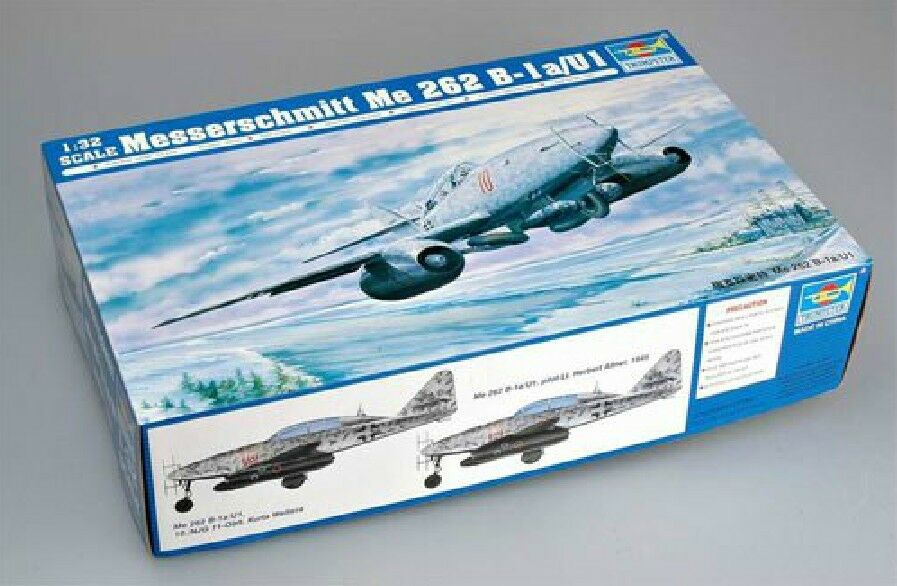 02237 Trumpeter 1 32 Model German Messerschmitt ME262 B-1a U1 Fighter Bomber Jet