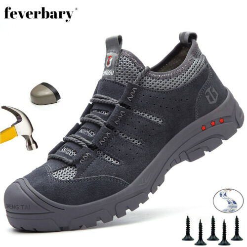 Mens Ladies Groundwork Safety Work Boots Steel Toe Cap Lace Up Trainers Shoes UK