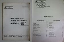 FIAT 850T - 850 Familiare manuale assistenza tecnica dati principali riparazioni