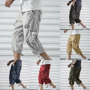 NEW-Summer-Mens-Cargo-Combat-Outdoor-Male-Shorts-Baggy-Loose-Casual-Work-Pants