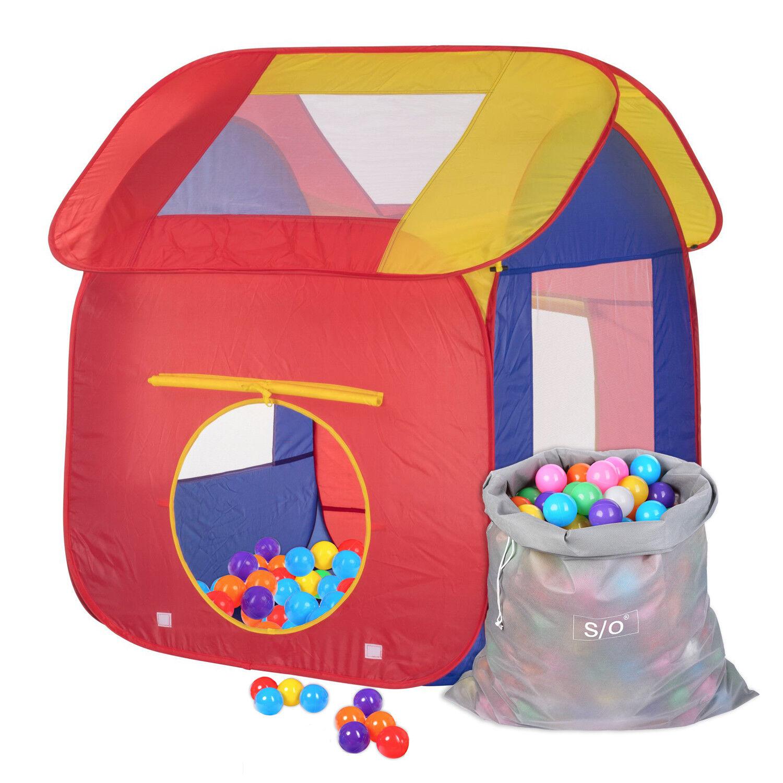 Schramm® Kinderspielzelt Bällebad inkl. 200 Bälle, Tasche u. u. u. Beutel Spielzelt f8fa49