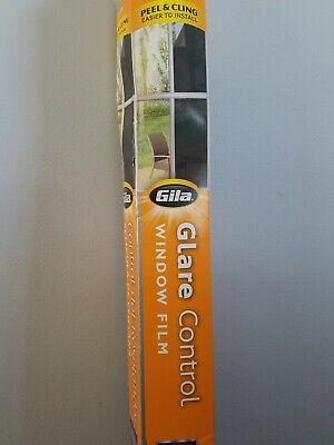Smoke Glare Control Static Window Film x 6.5 Ft Gila 3 Ft