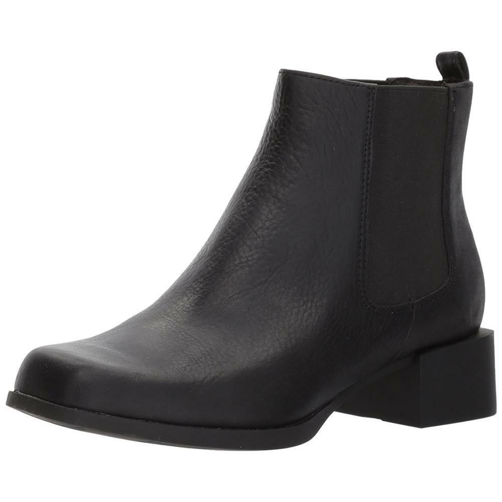 Camper Women NEW Kobo Chelsea Bootie Black Leather Slip On Comfort Boots