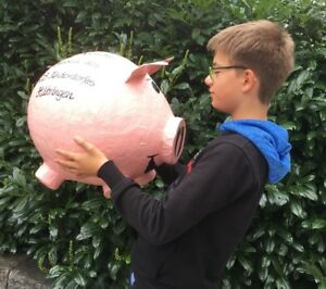 Spardose-Sparschwein-Riesengross-Bauch-Umfang-ca-120-cm-NEU-Kartenbox-Umschlaege