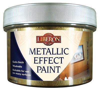 LIBERON METALLIC EFFECT PAINT 250ml CHOICE OF 10 COLOURS