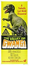 THE VALLEY OF GWANGI, Vintage Dinosaur Movie Poster CANVAS ART PRINT 17x33 in.
