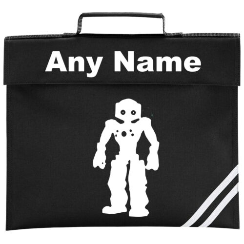 Colour Choice. Personalised Robot School BOOK BAG