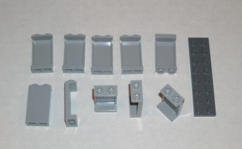 LEGO NEW 1x2x3 Light Bluish Grey Panel 10x 4585429 Brick 87544