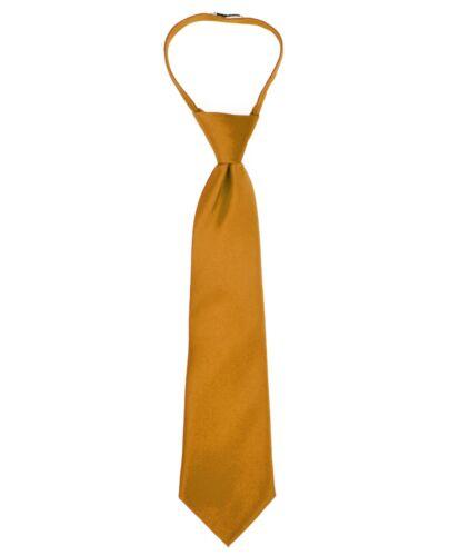 Boy/'s Poly Solid Satin Zipper Ties Umo Lorenzo Zip Necktie BSZ1000