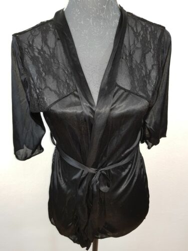 Nuevo JuIiet Kiss satén kimono bata ropa de noche talla M-L lencería encaje