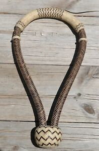 Jose-Ortiz-5-8-034-Brown-amp-Natural-Rawhide-Bosal-Traditional-Knot-16-plait