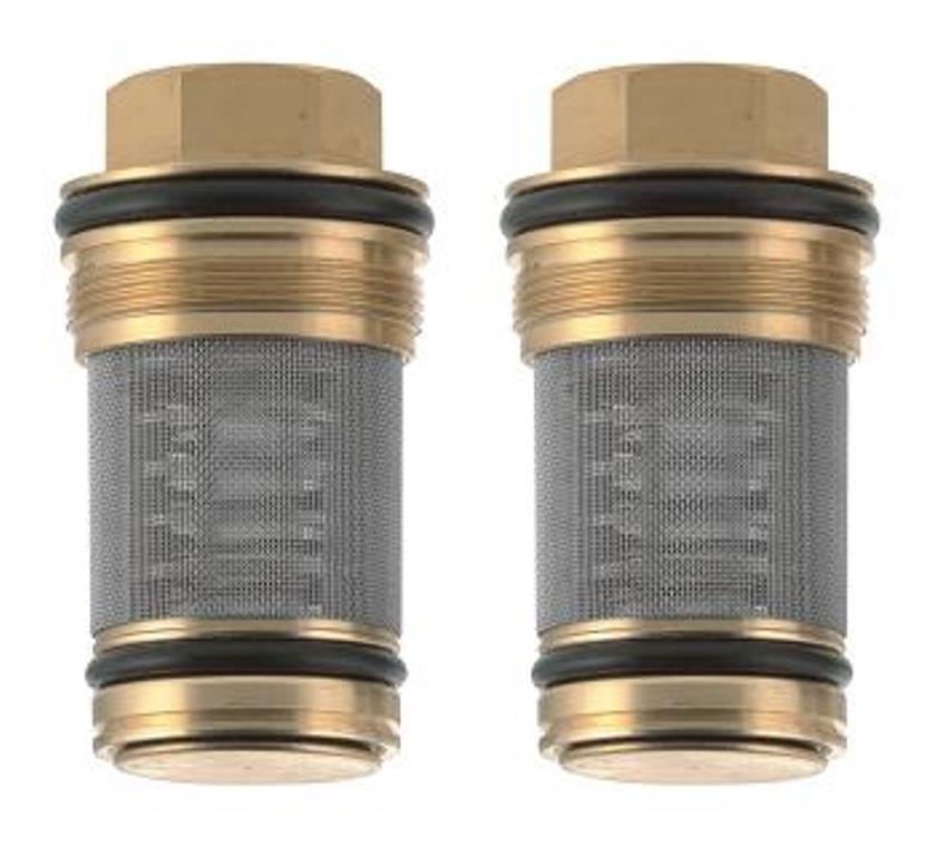 Par filtros con válvula de no retorno para válvulas mezcladoras termostáticas 3