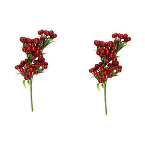 100x Artificial Foam Berries Flower Bouquet Decor Wreath Making Accessories