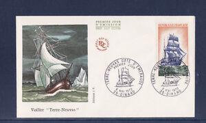 enveloppe-1er-jour-voilier-navire-bateau-terre-neuvas-Dinard-1972