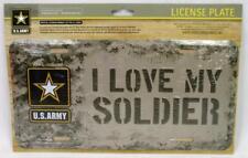 metal license plate #4 LADIES soldier PINK United States ARMY VETERAN U.S.A.