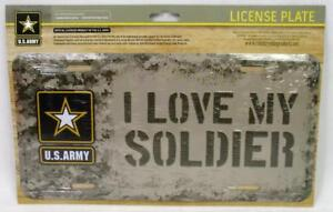 I Love My Soldier United States U.S. Army Metal License Plate Car Truck Auto Tag