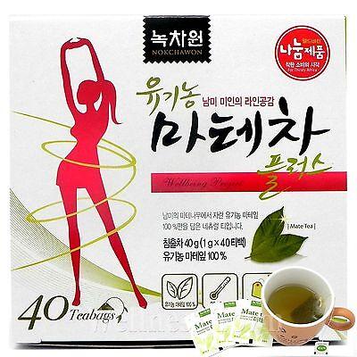 NOKCHAWON Organic Mate Tea 40 Tea bags / Diet (weight loss)