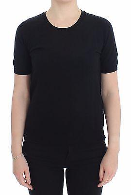 S NEW $280 DOLCE /& GABBANA D/&G T-shirt Top Black Crewneck Sweater IT40 US6