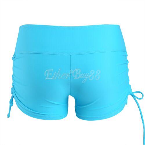 Women/'s Swim Brief with Adjustable Ties Boardshorts Beach Shorts Bottom Swimwear